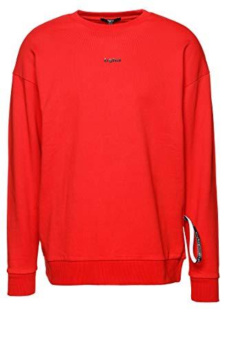 Tigha Herren Sweatshirt Maximo Rot L