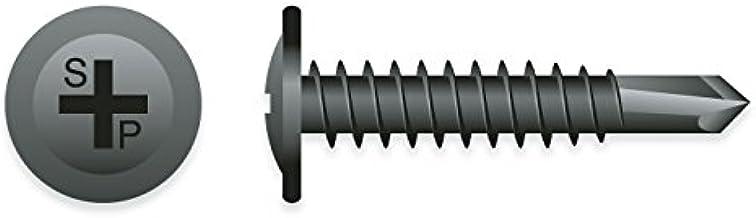"1//2/"" to 1/"" Long 150 screws Black Self Tap #8 Washer Head Trim Screws J#330T"