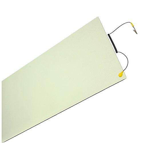 Minadax® ESD Antistatik-Matte 60cm x 120cm - Professionelle Antistatische Arbeitsmatte - PVC-Matte mit Erdungskabel - Qualität - ESD-Schutz