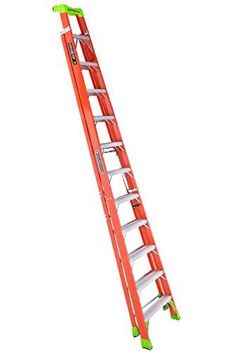 Louisville Ladder 12-Foot Fiberglass Step/Shelf Ladder, 300-Pound Capacity, Type IA, FXS1512, Orange