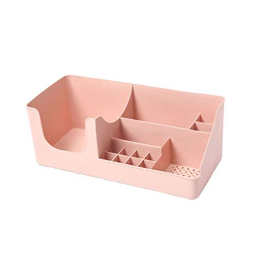 TOPBATHY organisateur de maquillage de maquillage en plastique bijoux de bureau titulaire titulaire de stockage boîte de cosmétiques pour les filles les femmes (rose)