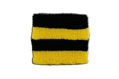 Flaggenfritze® Schweissband Streifen Schwarz Gelb, 2er Set