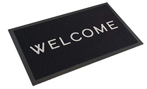 Premium Felpudo Welcome antideslizante – Felpudo para puerta (45 x 75 cm)