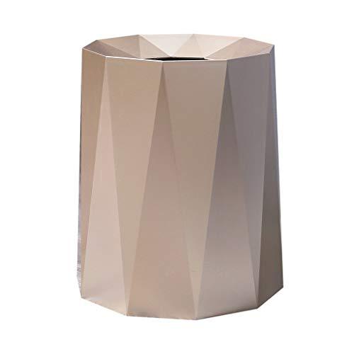FURUIWUFENG Cubo Basura Bote de Basura para el hogar Sala de Estar Dormitorio Baño Oficina Sin Tapa Bote de Basura 8L /12L Cubo Basura Reciclaje (Color : Metallic, Size : S-8L)