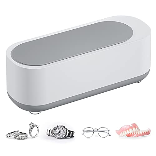 Ultraschallreiniger, Ultraschallreinigungsgerät 320ML, Ultraschallbad Ultraschall Reiniger Reinigungsgerät für Schmuck, Ring, Silber, Halterung, Brillen, Uhren, Münzen