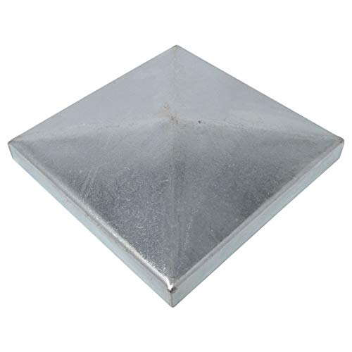 6 x SO-TOOLS® Pfostenkappe Pyramide Stahl verzinkt Abdeckkappe für Pfosten 80 x 80 mm