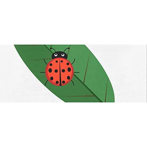 Ladybug Leaf Wild Creature - Hojas de papel de regalo de Navidad de 58 x 23 pulgadas, 2 rollos de papel de regalo para hombres, juego de papel de regalo para el día de la madre, Pascua, bodas, cumple
