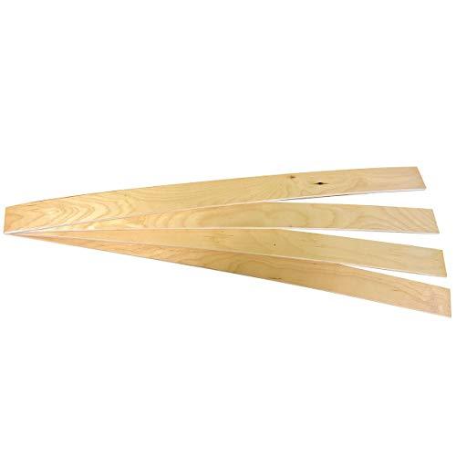 AltoBuy ALTOLATTES - Lot de 4 Lattes 68 cm pour Sommier Largeur 70 ou 140cm