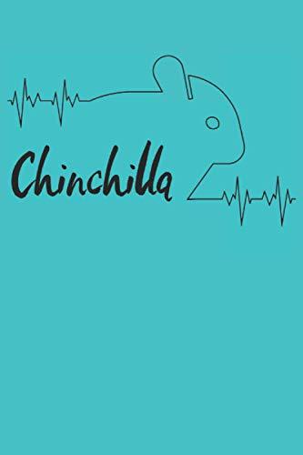 Electrocardiograma de latido de Chinchilla: Cuaderno de latidos de chinchilla - 120 páginas rayadas para anotar pensamientos, ideas y horarios de ... de las mascotas y amigos de los hámste