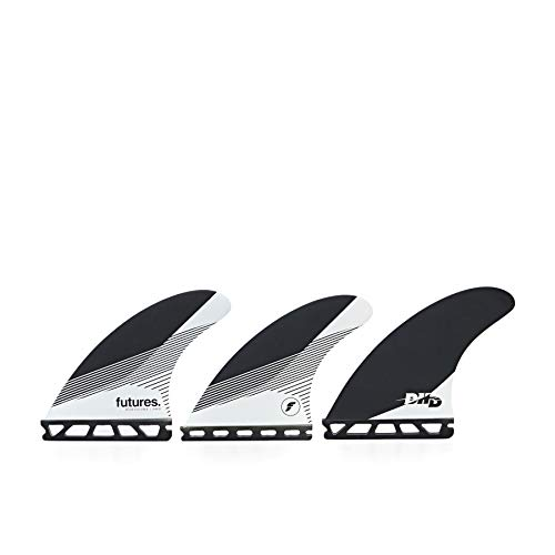El juego de aletas Tri Fin Futures DHD es una plantilla de panal mediana con un número de paseo equilibrado. La aleta DHD cae en la categoría de plantilla, Rake, por su forma de espalda barrida dando al surfista más agarre y conducción en turnos. Tam...
