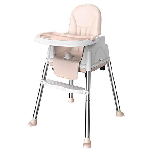 haohaiyo Trona ajustable con cinturón de seguridad de 3 puntos, bandeja extraíble, altura ajustable, fácil de montar, para niños y niñas