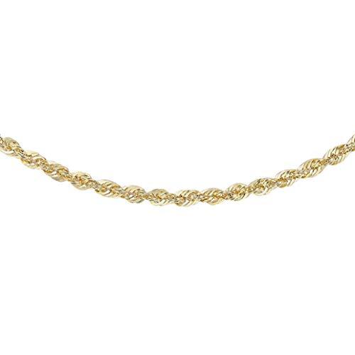 Carissima Gold Damen 2 mm Seile Halskette 9k (375) Gelbgold 46 cm / 18 Zoll 1.19.8474