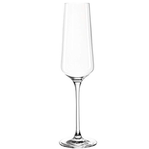 Leonardo Puccini Sekt-Gläser, Sekt-Kelch mit gezogenem Stiel, spülmaschinengeeignete Prosecco-Gläser, 6-er Set, 280 ml, 069550