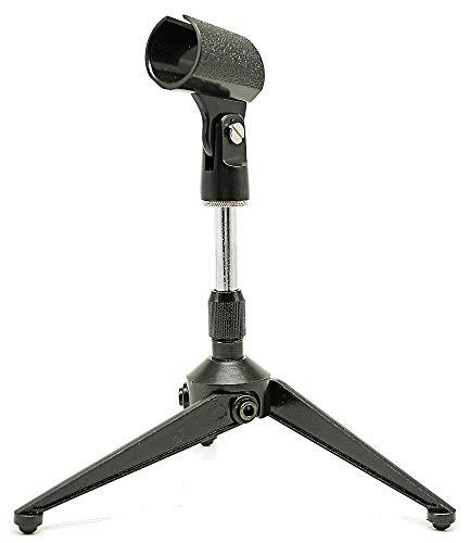 Audibax Soporte Micrófono   Standmic Table 2   Soporte Micrófono para Mesa Ajustable   Pinza Universal Incluida   Perfecto para Ruedas de Prensa, Conferencias y Múltiples Usos