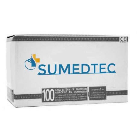 Gasas esteriles 8 capas de gasas tejidas para el cuidado de heridas suministros médicos de primeros auxilios 100 piezas