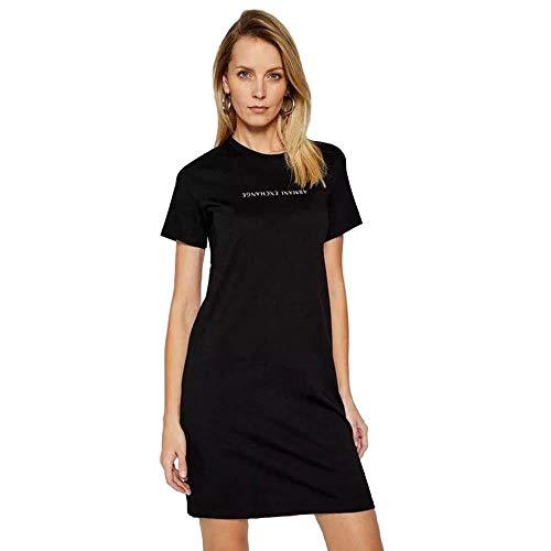 Armani Exchange Upside Down Logo Vestido Casual. para Mujer