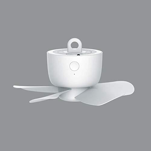 SPRINGHUA Tiempo de control remoto USB Ventilador de techo con alimentación del refrigerador de aire de 4 velocidades Ventilador USB para la cama CAMPING CAMPA DE CAMPA DE CAMPA DE CAMINO ABAJO FANVER