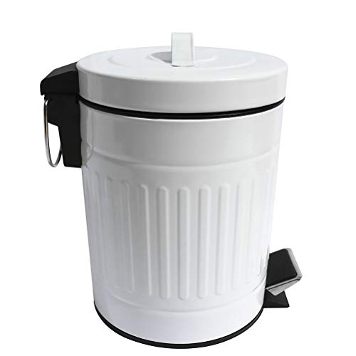 tin garbage can with lid - 6