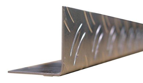GAH-ALBERTS 468866 Winkelprofil-Aluminium, Riffel-Prägung, blank, 1000 x 35,5 x 35,5 mm