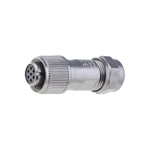 ST1210/S7 Plug female ST12 PIN: 7 IP67 5-8mm 5A soldering for cable WEIPU
