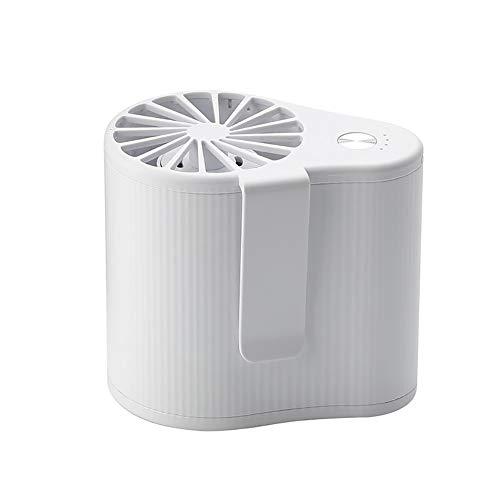Ventilador de mano portátil, mini ventilador colgante de cintura con batería recargable USB, ventilador portátil de 3 velocidades, para trabajo, granja, pesca, jardinería y más (color blanco)