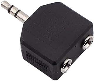 3.5mm One-Two Stereo Headphone Splitter Adapter Audio Headphones Cable Cord Splitter Adapter