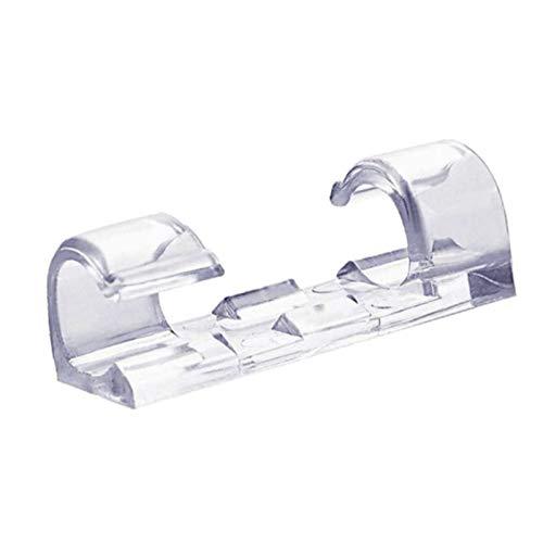 Jsdoin Kabelclips, transparent, stark, selbstklebend, Kabelhalter, haltbare Halterung, runde Kunststoffschnur-Management-Klemmen für Zuhause und Büro, 60 Stück