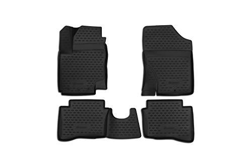 Element EXP.NLC.3D.20.32.210h Passgenaue Premium Antirutsch Gummi Fußmatten-Hyundai i20-Jahr: 09-20, schwarz