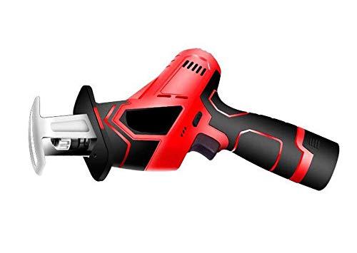 WUAZ Saw 12V Inalámbrico Alternativa con batería de Iones de Litio y Cargador rápido, Herramienta de la Motosierra de poda de plástico Inalámbrico Madera Metal