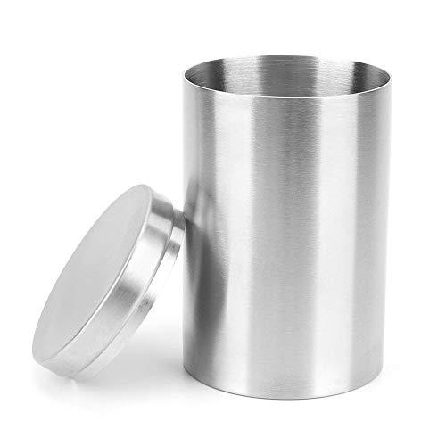 HEEPDD 6,6 x 4,1 inch hoogwaardige sigarettenkan, draagbare roestvrijstalen voorraaddoos met hoge capaciteit en meervoudig gebruik, bewaardoos voor thee, houder