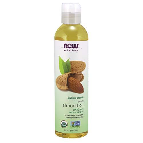 Soluciones, Orgánica aceite de almendras dulces, oz fl 8 (237 ml) - Now...