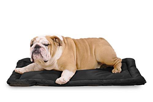K9 Ballistics Tough Dog Crate Pad - Washable, Durable and Waterproof Dog Crate Beds - Medium Dog Crate Mat, 35'x23', Black