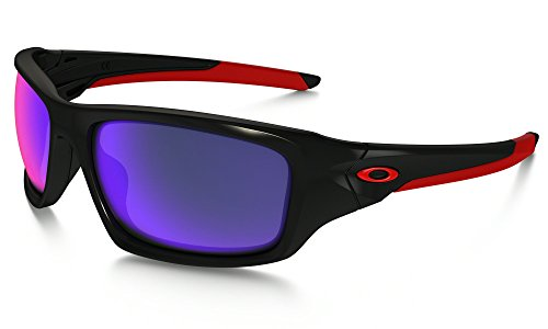 Oakley Valve, polished black/positive red iridium lens
