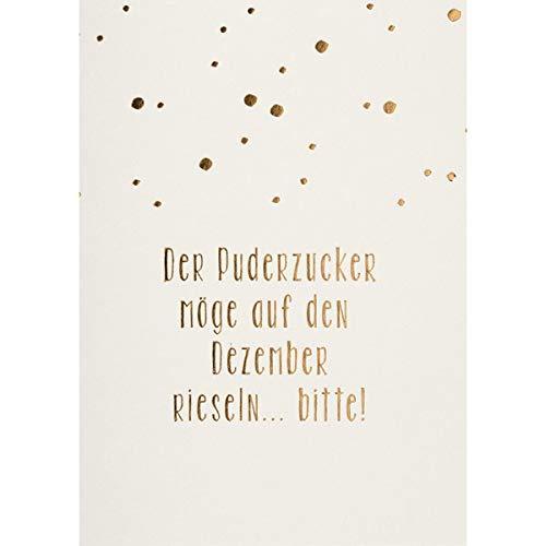 Räder Weihnachtspostkarte Der Puderzucker möge …