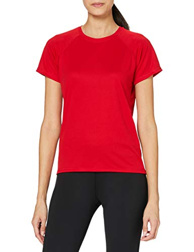 Stedman Apparel Active 140 Raglan/ST8500, T-Shirt Sportiva Donna, Rosso (Rosso cremisi), M