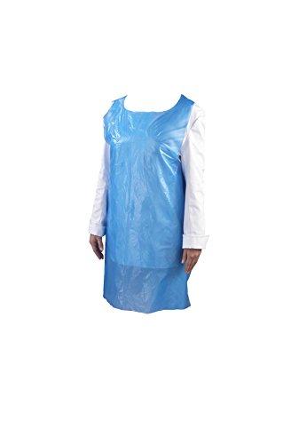Genware nev-eba Einweg Schürze, flach verpackt, blau (100Stück)