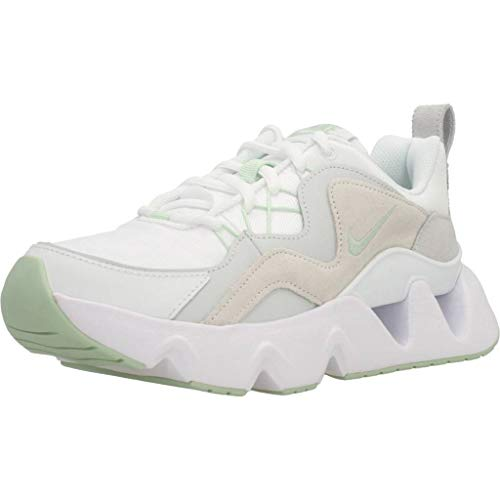 Nike RYZ 365, Running Shoe Womens, Blanco/Escarcha Pistacho/Polvo Fotón/Negro, 38.5 EU