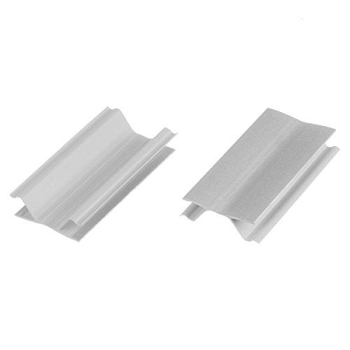 HOLZBRINK Eckverbindung Sockelblende Sockelleiste für Einbauküche 150mm Höhe ALUMINIUM Gebürstet - HBK15