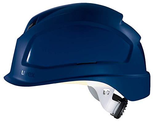 Uvex Pheos B-S-WR Schutzhelm - Belüfteter Arbeitshelm für die Baustelle - Blau Blau