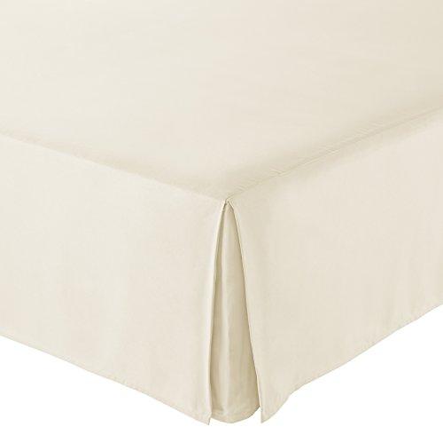 AmazonBasics Pleated Bed Skirt - Queen, Beige