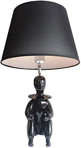 YLSP Kinder Zimmerboy Zimmer Schreibtischlampe Dekoriert Fenster Und Rahmen Dekoration Kindliche Comic-Nachttischlampe (schwarz) (Color : -, Size : -)