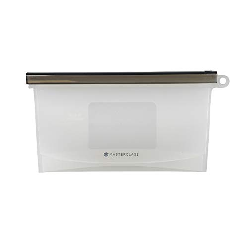 MasterClass Bolsa de Comida Hermética Reutilizable de Silicona Libre de BPA 500 ml