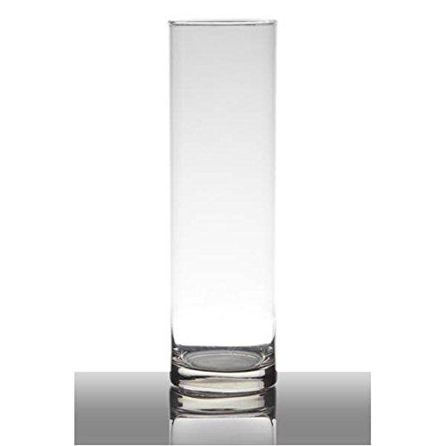 Hakbijl Dekoglas, Vase Zylinder H. 30cm D. 9cm transparent rund Glas