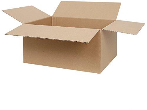 50 Faltkartons 400 x 300 x 200 mm | 1-welliger Versandkarton | Kartons geeignet für Versand mit DPD, GLS und Hermes