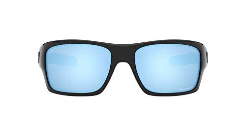 Oakley Men's OO9263 Turbine Rectangular Sunglasses, Polished Black/Prizm Deep H2O Polarized, 65 mm