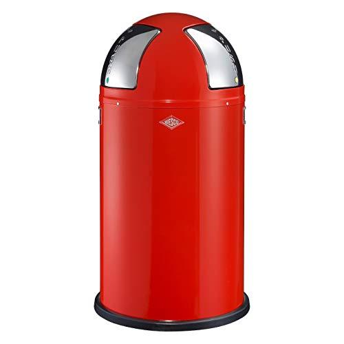 Wesco Push Two Poubelle tri sélectif Acier inoxydable Rouge 50 litres