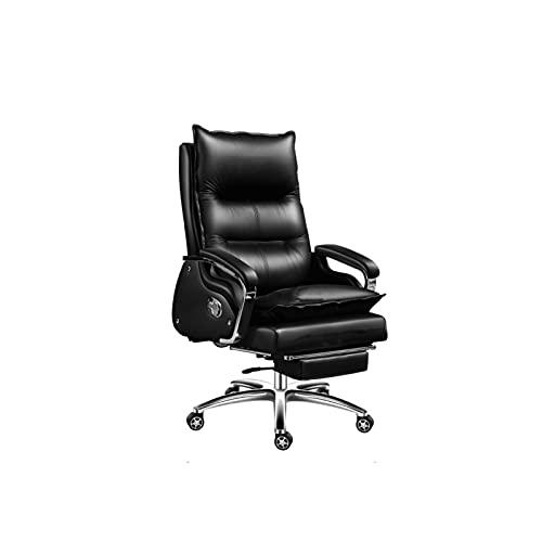 XYJHQEYJ Sedie da scrivania for Ufficio esecutivo, Sedia da Gioco for Computer, 7 Punti Sedia da Vacchetta da Massaggio, Poltrona del Boss ergonomico con poggiapiedi, Nero