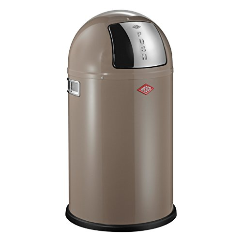 Wesco Mülleimer Pushboy Junior, Push Abfalleimer, Abfallsammler, Stahlblech, Warm Grey, 22 L, 175531-57