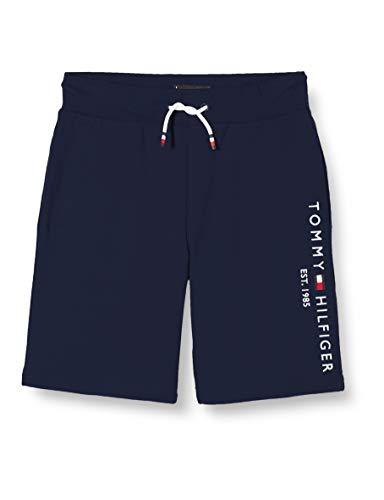 Tommy Hilfiger Jungen Essential Sweatshort Short, Blau (Twilight Navy 654-860 C87), 12-13 Jahre (Herstellergröße: 12)
