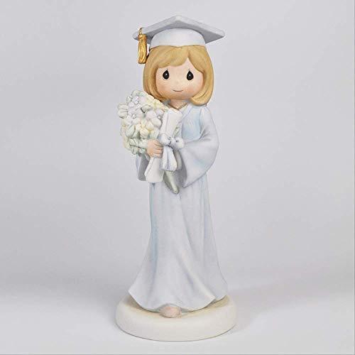 SUPERHUA creativo hecho a mano cerámica graduación conmemorativo regalo cuadrado sombrero soltero traje niña cerámica artesanía decoración